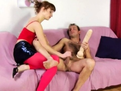 cfnm-domme-wanks-sub-bf-before-pegging