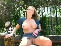 Playsome darling is playing with her nice tits