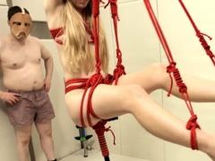 Ass ruined teen slave