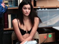 Slutty teen thief nabbed