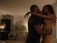 Latina shemale lets her black boyfriend fuck her wet ass