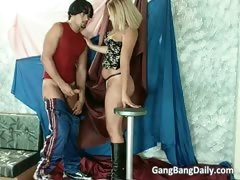 Hot And Sexy Blonde Chick Blows Boner Part1