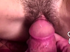Cutey Teen Gets Hairy Pussy Banged by Hard Cock