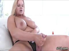 Massive Tits Tgirl Holly Sweet Fires Cum