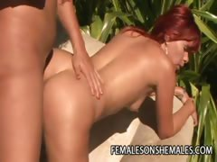 Horny Female Getting Fucked By Shemale Alessandra Ferra
